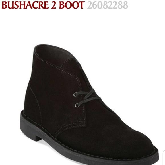 clarks bushacre 2 black leather